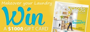 Howards Storage World – Win a $1,000 Gift card
