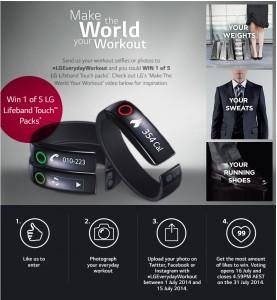 LG – Win 1 0f 5 LG Lifeband Touch packs