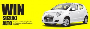 Lovatts – WIN A brand new Suzuki Alto