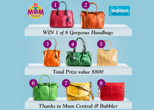 Mum Central & Bubbler – Win 1 of 8 Gorgeous Handbags