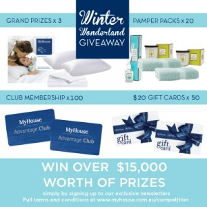My House – Sign up to win over $15,000 worth of prizes