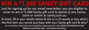 Sanity – Win a $1,000 Sanity Gift Card