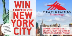 Strandbags – High Sierra – Win a trip to New York for 2