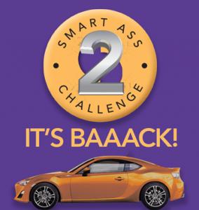 Stratton – Smart Ass Challenge 2  – Win a Toyota 86 sports car worth $30K