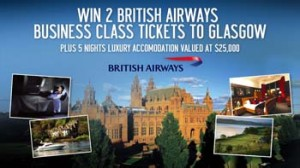 Tenplay – Win British Airways Business Class Flight Tickets To Glasgow plus 5 nights accommodation valued at $25,000