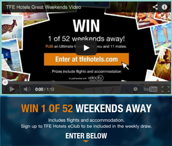 TFE Hotels – eClub Newsletter – Win 1 of 52 Weekends Away