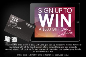 Thomas Jewellers – Win a $500 Gift Card