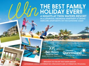 Tout Mon Amour – WIN a FAMILY HOLIDAY TO TWIN WATERS Resort