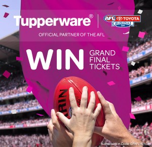 Tupperware – Win 1 of 2 double tickets to AFL Grand Final 2014. Travel and accommodation not included