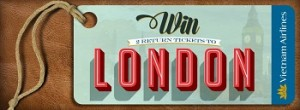 Webjet – Vietnam Airlines – Win 2 Return Tickets to London