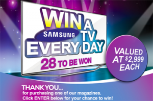Woolworths – Bauer Selected Magazines, win a Samsung TV Daily