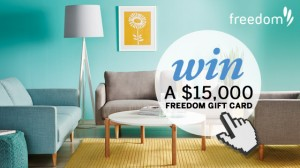Channel Ten – The Living Room – Win a $15,000 Freedom Gift Card