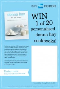 American Express – Win 1 of 20 personalised donna hay cookbooks