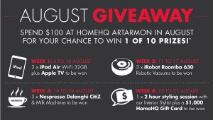 Artarmon homeHQ – Spend $100 for a chance to Win 1 of 10 prizes