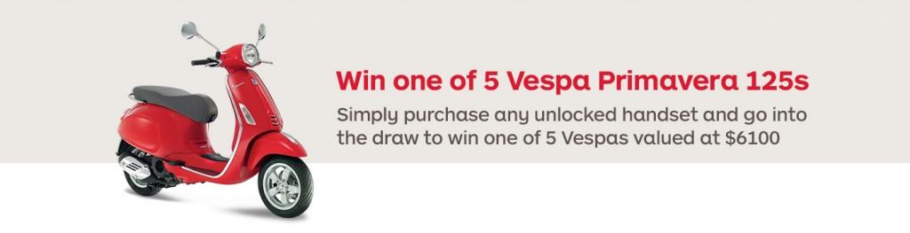 Auspost – Win 1 of 5 Vespa Primavera 125s