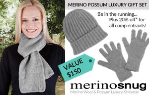 Australia Made – Win a luxury Merino Snug Knitwear