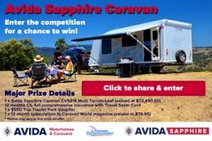 Avida – Win a Avida Sapphire Caravan CV5914 Multi Terrain Leaf valued at $73,490