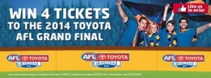 Betta – Win 4 tickets to the 2014 Toyota AFL Grand Final