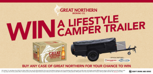 Bottlemart – buy any case of great Northern for your chance to Win a Lifestyle Camper Trailer