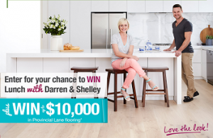 Carpet Court – Win $10,000 flooring and lunch with Shelley Craft and Darren Palmer at The Bridge Room