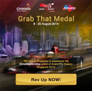 Changi Airport – Win trips to Singapore to experience the #OneStopNonStop action of Grand Prix Season Singapore 2014