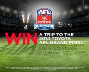 Coke Rewards – Win 1 of 2 Trips to the 2014 Toyota AFL Grand Final