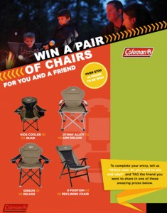 Coleman – Win a Pair of Chairs for you and a friend