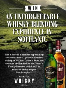 Dan Murphys – Win a once in a lifetime trip to visit William Grant & Sons Speyside Distilleries
