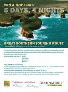 Destinations Mag – Win a trip to the Great Southern Touring Route worth $4,000