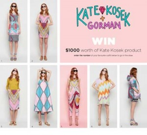 Gorman – Win $1000 Worth of Kate Kosek product
