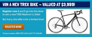 Great Cycle Challenge – Win a new Trek Bike valued at $3999
