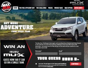 ISUZU – Win A $36,990 Automatic Isuzu MU-X 4×2 LS-M or $250 Caltex fuel voucher