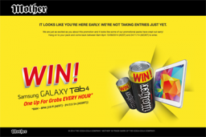 Mother Energy – Win a Samsung Galaxy Tab every hour