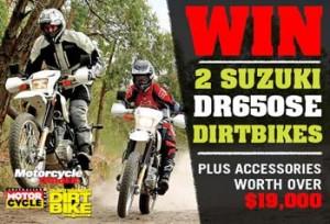 Motorcycle Trader – Win 2 Suzuki DR650SE Dirtbikes