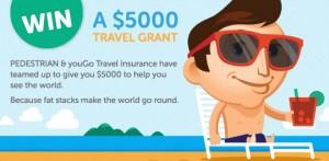 Pedestrian & youGo Travel Insurance – Win a $5000 gift voucher from Flight Centre