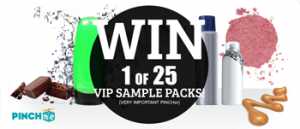 Pinchme – Win 1 of 25 VIP Sample Packs