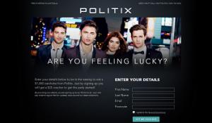 Politix – Sign up to win a $1,000 Politix wardrobe