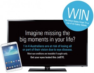 Ranzco Eye Foundation – Win Galaxy Smart TV or 1 of 6 Galaxy Tablets