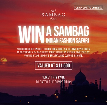 Sambag – Win An Indian Fashion Trip