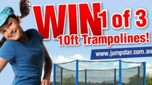 School Mum – Win 1 of 3 Jump Star Trampolines