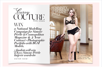 Simone Perele-The Curvy Couture Model Search – Win Modelling Campaign & 2 year contract plus $500 lingerie wardobe