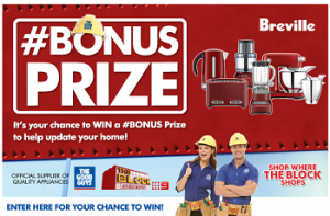 The Good Guys – The Block – Win Breville #BONUS Prize pack (Breville Kettle, Toaster, Mixer, Food Processor and Blender)