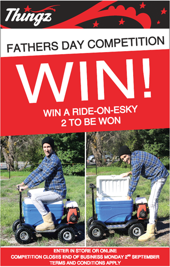 THINGZ GIFTS – WIN 1 of 2 Ride-on-Eskies