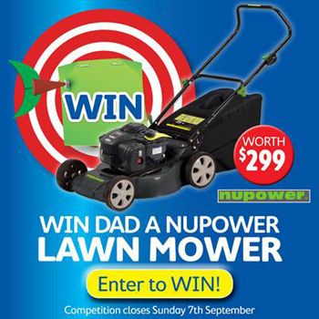 Thrifty-Link Hardware – Win Dad a Nupower Lawn Mower