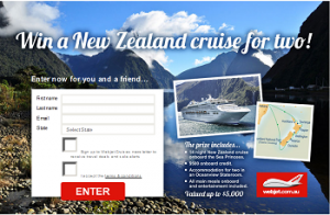 Webjet – Win a New Zealand Cruise on the Sea Princess valued up to $5,000