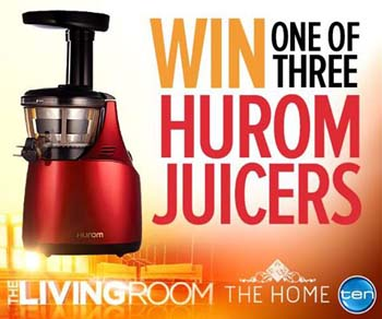 Hurom Slow Juicer Black Friday : Channel Ten The Living Room Juicer Win 1 of 3 Huro ... Australian Competitions