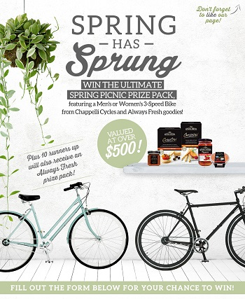 Always Fresh – Win 3-speed Bike from Chappelli Cycles and Fresh goodies prize pack