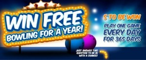 AMF Bowling Centres Australia – Win 1 of 5 Free bowling for a year consisting of 1 Game of bowling per day for 365 days from the day of delivery
