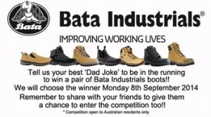 Bata Industrials Australia – Win a pair of Bata Industrials boots for Dad