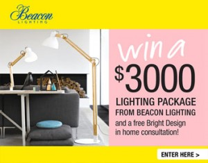 Beacon Lighting – Win a $3000 Lighting Package